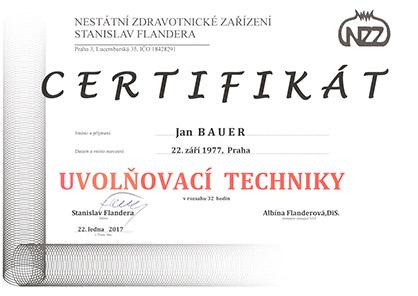 Certifikát uvolnovací techniky